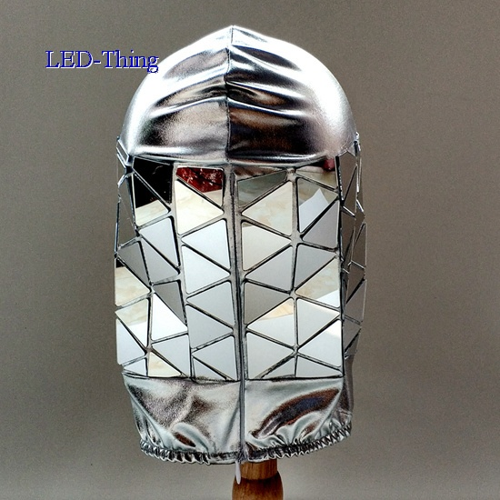 Golden Silver Mirror Hat/Mask/Hood Combo