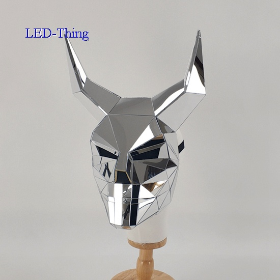 3D Shape OX Horn Mirror Mask