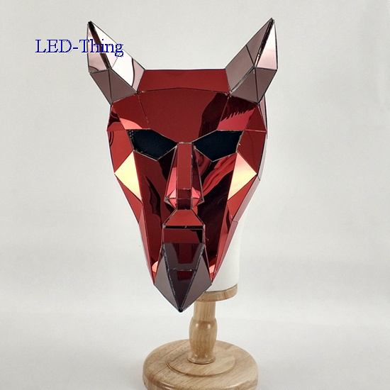 3D Red Demon Mirror Mask