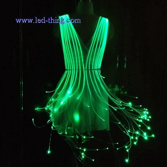 LED Fiber Optic Rave Cage Dress
