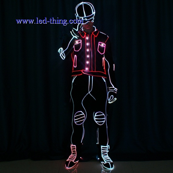 Tron Dance Show Popping LED Suit
