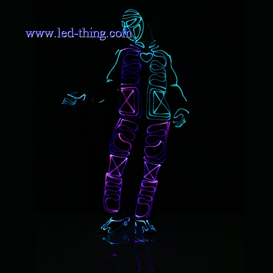 Fiber Optic Costume LED Luminous Tron Suit