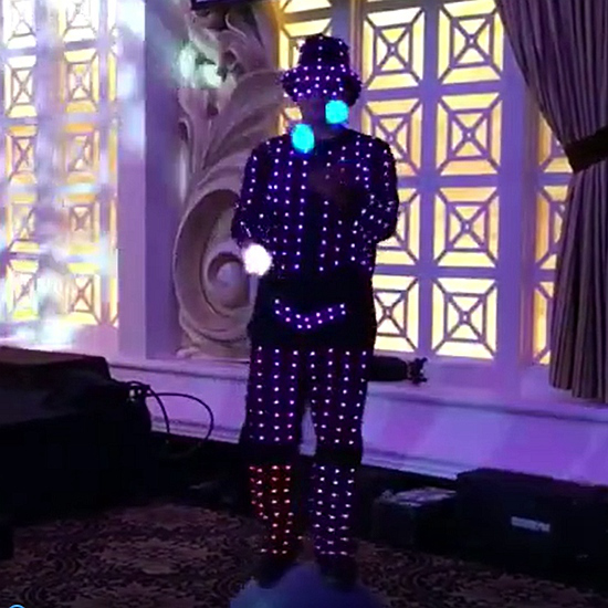 LED Acrobatic Circus Show Performance with LED Robot Costume