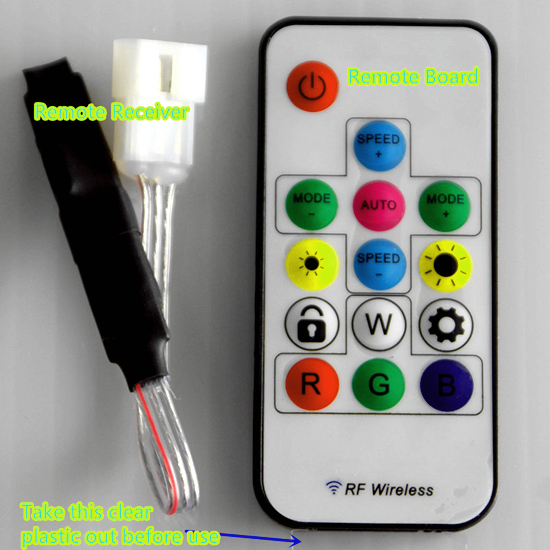 How to Use RF Remote Controller to Control LED Color Changing Costume