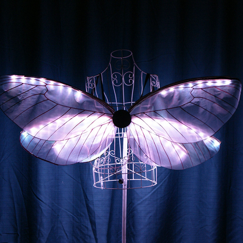 LED Butterfly Wings, LED Isis Wings, LED Jellyfish Swirl Performance Stage Props