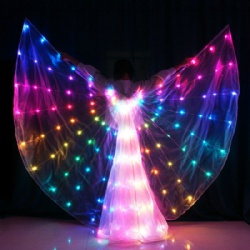 Angel Wings LED With Lights Battery Operated Belly Dance Butterfly Fairy Wing