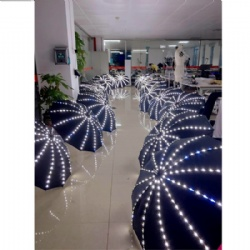 LED Light Umbrella Lights Battery Operated with Torch Flashlight