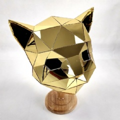 Golden Mirror Cat Mask