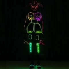 Illuminated Cool Tron Girls Suits