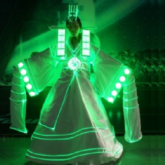 LED Stage Dance Prom Dress