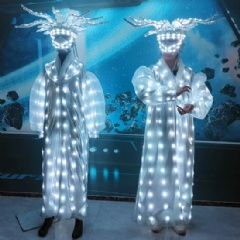 LED Shiny Crown Performance Suit