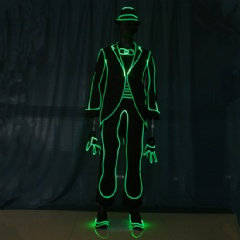 Fiber Optic Tail Coat Costume