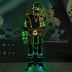 LED Fiber Optic Tron Dance Performance Costume