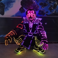LED Fiber Optic Luminous Tron Suit