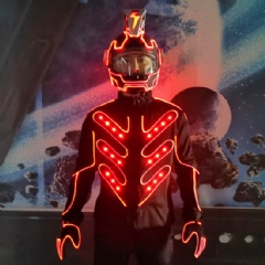 LED Bicyle Motorcyle Race Driver Suit with Helmet